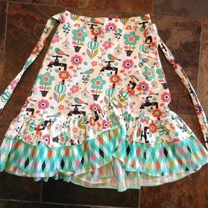 JELLY THE PUG novelty print cotton skirt 4 5 6